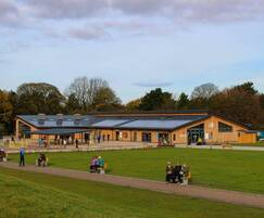 External seating and shelters, Delamere Visitors Centre