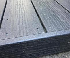 EcoDek Heritage composite decking in Welsh Slate colour