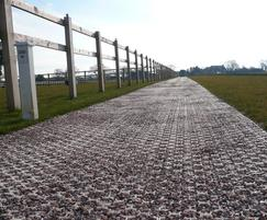 BodPave 85 porous surface allows rainwater infiltration