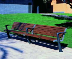 DAE PROA Double bench cast iron and FSC hardwood