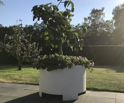 Round High Planter - Corten with RAL coating