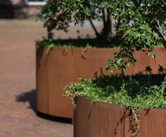 Round High Planter - Corten Various Sizes Available