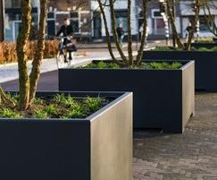 POC - Square high planter - Corten/RAL coating