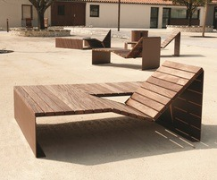 Cyria - Absolut steel and hardwood timber seating range