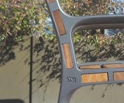 Montseny bench end detail