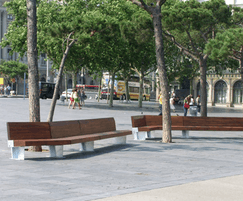DAE SUMO bench in steel and strong laminated timber