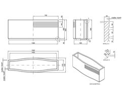 Mago Fuat concrete planter dimensions