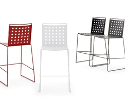 Busy chairs feature a 'polka dot' style aluminium seat