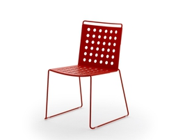 Busy stackable metal chair from the Urbantime range