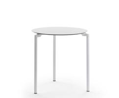 LEG table with circular top and three-leg base