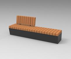 POC - Sturdy bench with offset backrest