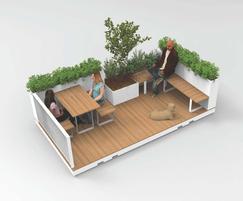Public Spaces: Increase outdoor public areas with Parklets