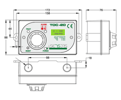 TOC-20 CO2 gas monitor