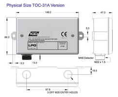 TOC-31A flammable gas detector