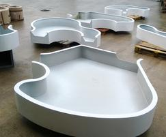 Planters finished awaiting packing