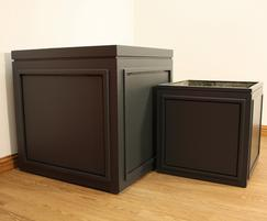 50cm/70cm cubes side by side