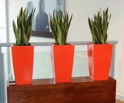 Kubik Planters In Our Standard Flame Red Colour
