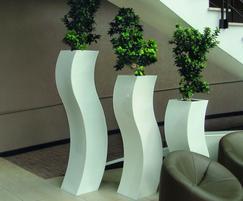 Curvy S Planters In Our Standard Brilliant White Finish