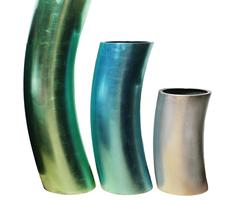 Musa planters in our Coloured Leaf finish