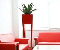Agave green in maxi flare HD planter