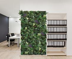 Artificial range in filled frame feature wall panels
