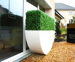 White Textured Dhow Bespoke Hedge Planter