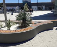Bespoke island planter - lightweight composite