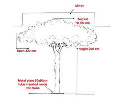 Drawing of specified bespoke tree