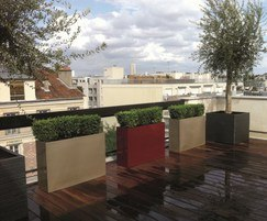Bespoke GRP planters for roof gardens