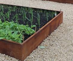 Rust (Corten Steel) planting beds