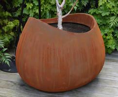 Rust Corten steel effect Blob planter