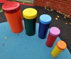 Set of 5 Outdoor Drums - Standard Colours