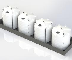 Open top bunded polyethylene tanks (400-30,000L