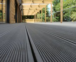 SAiGE Grey Coloured Longlife composite decking