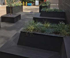 SAiGE Charcoal Coloured Longlife composite decking