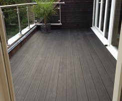 Composite decking is low maintenance
