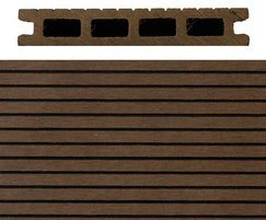 SAiGE coffee coloured composite decking: hollow profile