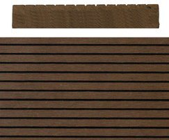 SAiGE coffee coloured composite decking: solid profile