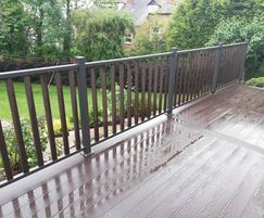 SAiGE composite decking - coffee coloured