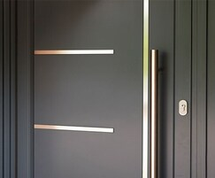 Origin aluminium front door