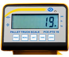 Floor Scale PCE-PTS 1N display