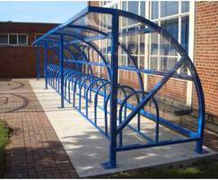 Alnwick cycle shelter for 30 bikes