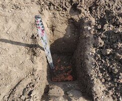 Remedial works: Clean soil above high vis geotextile