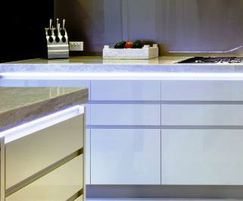 LED tape used in kitchen