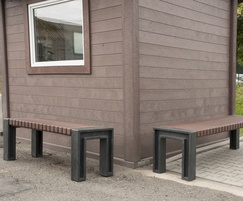 Ueno recycled plastic outdoor benches