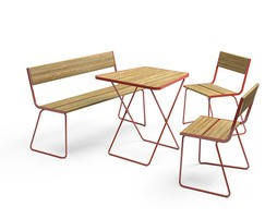 APRIL GO bench with table and chairs