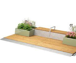 PARKLET 2.0 with planter and seating units