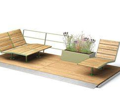 PARKLET 2.0 with APRIL sunbench