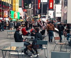 APRIL GO tables and chairs in Times Square