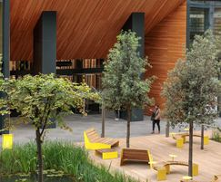 Outdoor seating for Republic, East India Docks